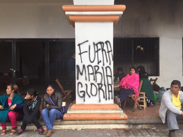 Piden expulsión de María Gloria de Oxchuc