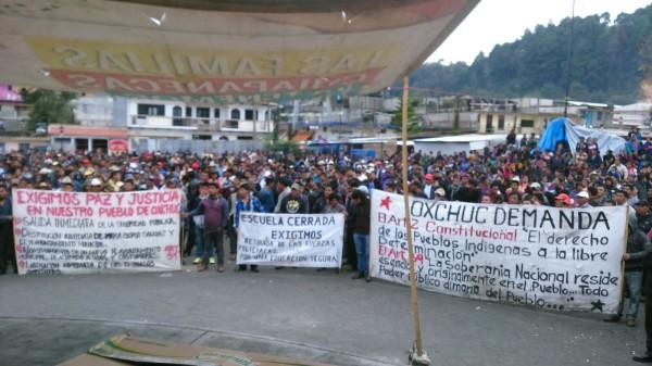 Pobladores de Oxchuc se manifiestan contra la alcaldesa electa María Gloria Sánchez del PVEM