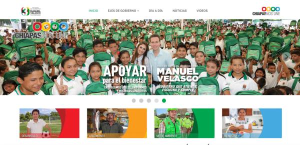 Manuel Velasco, publicidad de Tercer Informe de Gobierno