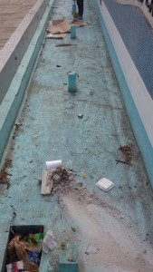 La fuente que está en el parque Santo Domingo no ha recibido mantenimiento.