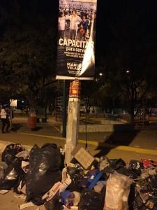 El deficiente servicio de limpia afecta a la capital de Chiapas. Foto: Francisco Cordero
