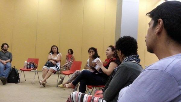 Damaris Disner en el Encuentro la Mujer en la Escena Teatral Latinoamericana de Frente al S.XXI, realizado en Mérida, Yucatán. Foto: Cortesía.