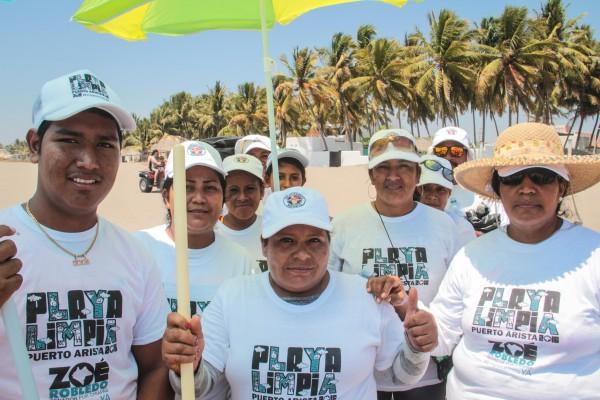 Habitantes de diferentes comunidades de Tonalá participan en la campaña. Foto: Roberto Ortiz/Chiapas PARALELO.