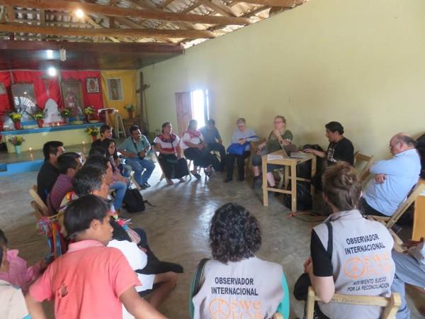 Reunión de organizaciones de la sociedad civil, en apoyo a Gustavo Castro. Foto: Cortesía
