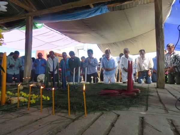 Pueblos del norte de Chiapas en apoyo para Gustavo Castro. Foto: Cortesía