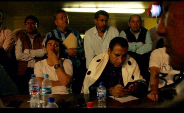 Los diputados retenidos anoche en la plaza central de Chenalhó