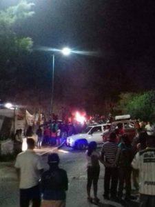 Inconformidad social por presunta liberación de un reo en Motozintla. Foto: Cortesía