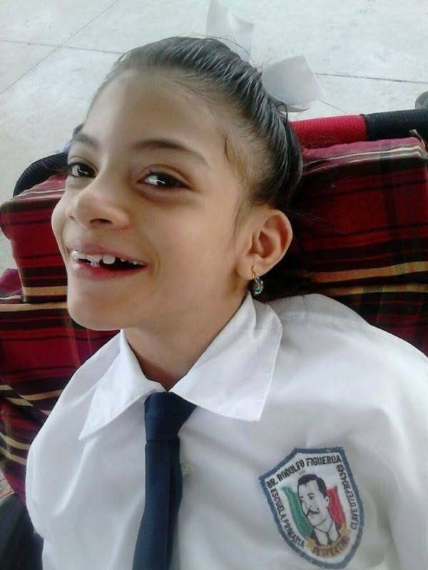 Yesi estudió su primaria en una escuela regular. Foto: cortesía.