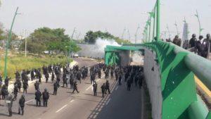 Operativo policiaco impide bloqueo de las entradas a a capital. Foto: Cortesía