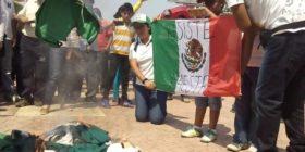 Imágenes de la manifestación en apoyo a la #CNTE que padres y madres de familia, alumnos y ciudadanos realizaron en #SanFernando #Chiapas