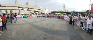 La llegada a la plaza central de Tuxtla