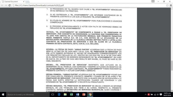Extracto del contrato que firmó el Ayuntamiento con GTR Consultores.