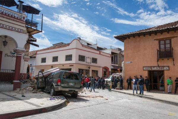 Accidente en el portal oriente del centro de San Cristóbal.