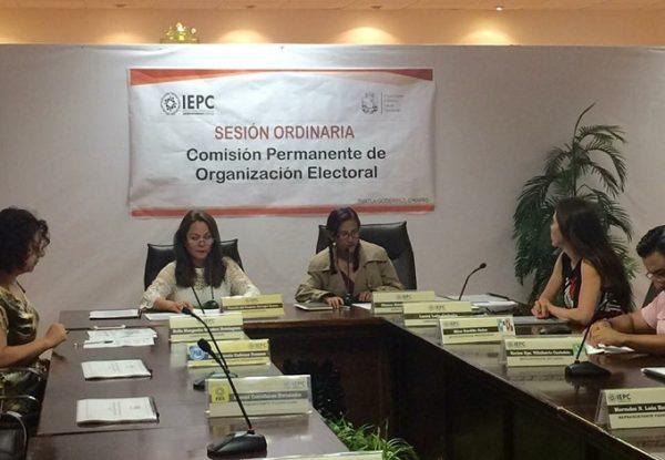 Sesionan comisiones de capacitación y organización electoral en el IEPC