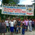 Protestan contra las mineras