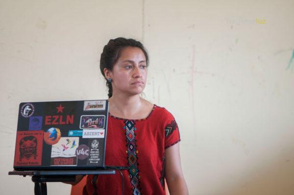Comunicadora de Guatemala, del proyecto comunitario Tz'ikin