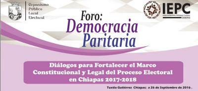 "Inicia el foro estatal ""Democracia Paritaria"" del IEPC"