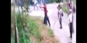 Imágenes del video donde se observa a grupo armado disparando contra maestros de la CNTE.