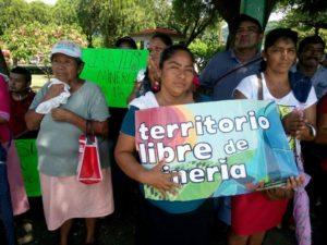 Manifestación contra la industria minera. Foto: Cortesía