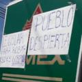 Protestas en Chiapas, contra el aumento al precio de la gasolina. Foto: Cortesía