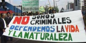 Protesta contra la criminalización de defensores y defensoras ambientales. | Crédito: Km 169, Prensa Comunitaria Guatemala.
