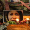 Manifestantes decidieron recordar a las victimas fatales de la violencia de género.  Foto: Andrés Domínguez