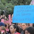 Protesta por femnicidios. Foto: María Gabriela López Suárez