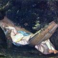 La hamaca (Die Hängematte) de Gustave Courbet (1844).