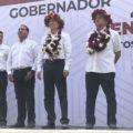 Militantes de MORENA rechazan a candidatos Rutilio Escandón, Eduardo Ramírez y Sasil de León Villard. Foto: Chiapas Paralelo