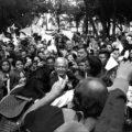 AMLO en Coyoácan El mitín de Andrés Manuel López Obrador a su llegada a Coyoácan el 7 de mayo del presente año. Autor:Diego Jir  Ciudad de México mayo de 2018