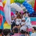 Orgullo neo-aliancista Simpatizantes de Nueva Alianza en la Marcha del orgullo Gay. Ciudad de México, 23 de junio de 2018. Autor: Fabián Vidal