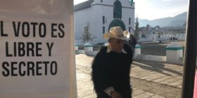Votaciones de 2018 en San Juan Chamula. Foto: Ángeles Mariscal