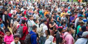 Miles de migrantes ya se encuentran en la frontera con Guatemala