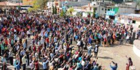 Autoridades comunitarias realizan Asamblea de Consulta Indígena en la cabecera municipal de Oxchuc
