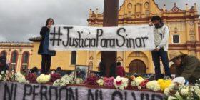 Se movilizan en municipios para exigir justicia por Sinar Corzo .  Fotos: Isaín Mandujano