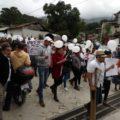 Marcha por la paz en Yajalon.