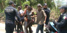 Redada antimigrante en Pijijiapan desarticula caravana. Foto: Isaín Mandujano