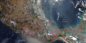 Desde el espacio, NASA registra contaminación por incendios forestales en Chiapas