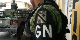 Guardia Nacional En Frontera Comalapa. Foto: Reydober Pérez