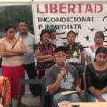 Familiares de reos en huelga de hambre. Foto: Ángeles Mariscal