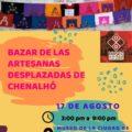Realizarán bazar para ofertar productos de las mujeres desplazadas de Chenalhó