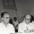 © Luis Echeverría Álvarez y Manuel Velasco Suárez. Auditorio de los Constituyentes. AGN Fondo Hermanos Mayo (concentrados, sobre 363). 1975.