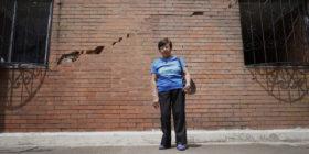Dolores Mexicano, Lolita de 72 años de edad en 1998 adquirió un crédito hipotecario del INFONAVIT para comprar un departamento de interés social que tenía un  costo de 260 mil, Dolores Mexicano en diez años concluyo su crédito, pero algo en el programa de desarrollo sostenible que calcula el INFONAVIT salió mal, después de tres años ella y los vecinos de la Unidad Habitacional Concordia en la colonia Santa Martha Acatitla en la Alcaldía de Iztapalapa, se dieron cuenta que el complejo habitacional tenían muchos serios problemas; falta de agua, apagones, filtraciones de agua, intentaron denunciar pero nadie se hizo responsable, intentaron vender pero fue imposible. El día del terremoto del 19 de septiembre del 2017, cuatro torres quedaron con severos daños estructurales y fueron desalojados.Dos años después a Lolita le informaron que serán reubicados, ha tenido que dormir en la vía pública para cuidar sus pertenencias de los robos, hacer guardias y asistir a las asambleas vecinales y reuniones con autoridades. En un principio recibieron apoyo económico y después dejaron de percibirlo. Recibe su pensión y el apoyo de la tercera edad que otorga el Gobierno de la Ciudad de México. Sin embargo, todo su ahorro y trabajo de 57 años de trabajo se ha perdido en un desastre natural,  pero Lolita afirma que fue estafada por la constructora y el INFONAVIT quienes autorizaron como óptimos los terrenos de Calzada Ignacio Zaragoza para construir una Unidad Habitacional donde siguen viviendo cientos de familias.  Lolita como las 40 familias de las torres C2, C3, C5 y C6, esperan la Reubicación. Iztapalapa, México. 18 septiembre 2019.