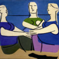 Pintura: Conversa na praia  Seoane, Luis