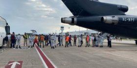 Gobierno mexicano retorna 110 migrantes a Honduras  Foto: INM