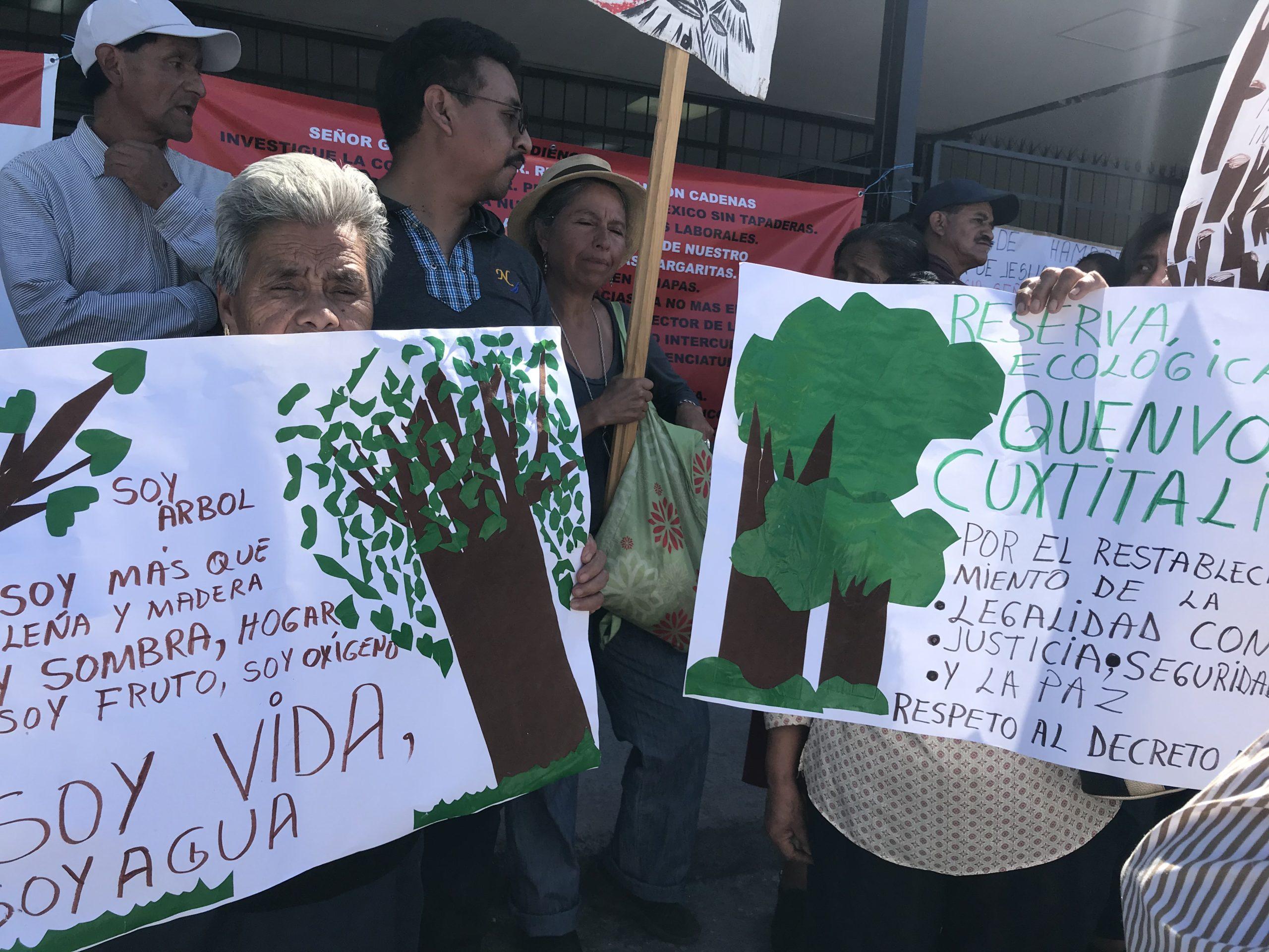 Habitantes denuncian omisión de autoridades por proteger Quemvó-Cuxtitali