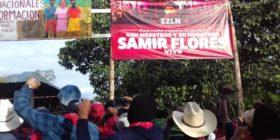 EZLN reivindica la lucha de Samir Flores, líder comunitario de Morelos, asesinado el 20 de febrero de 2020. Foto: EZLN