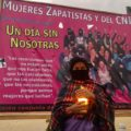 """""""Muera el gobierno machista""""; Mujeres zapatistas reclaman justicia por feminicidios. Foto. Isaín Mandujano"""