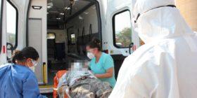 Traslado de Covid-19  a la Clinica Covid-19 en Tuxtla Gutiérrez.  Foto: Secretaría de Salud