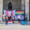 Activistas, miembros de la Red de la Inclusión Sexual de Chiapas y del Observatorio Ciudadano de Derechos de la Población LGBT+. Cortesía: Subterráneos.
